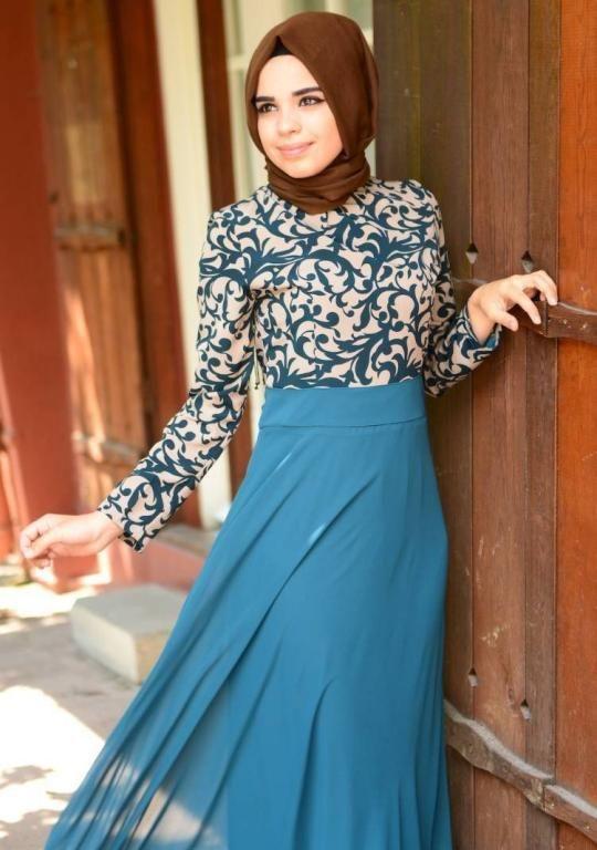 فستان خطوبة للبنات المحجبات2016 بالوان موضة جديدة (2)