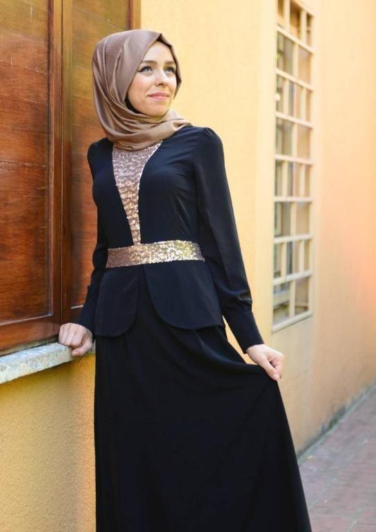 فستان خطوبة للبنات المحجبات2016 بالوان موضة جديدة (3)
