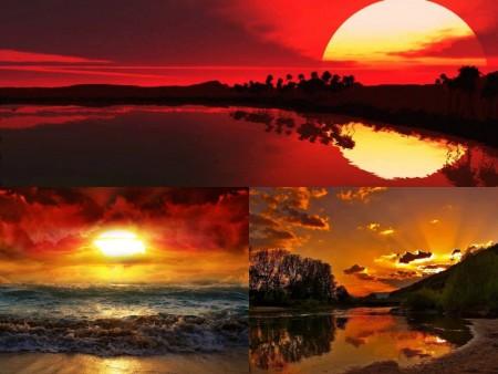خلفيات الغروب علي البحر (4)