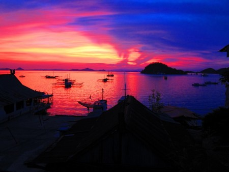 غروب الشمس علي البحر بالصور (1)