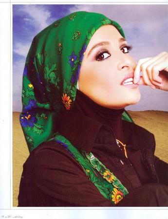 طريقة لف الحجاب (1)