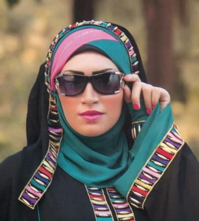 لفات حجاب جديدة بالصور والخطوات اجمل لفات الحجاب (1)