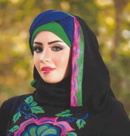 لفات حجاب جديدة بالصور والخطوات اجمل لفات الحجاب (5)