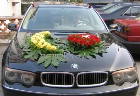 تزيين سيارات افراح للعريس والعروسة (4)