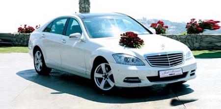 تزيين سيارات الزفاف اشكال تزيين سيارات العريس في الفرح (1)