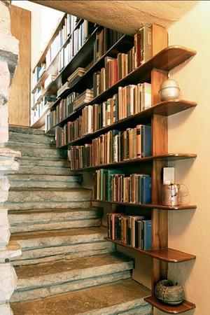 تصميمات مكتبات كتب في المنزل باشكال مختلفة (1)