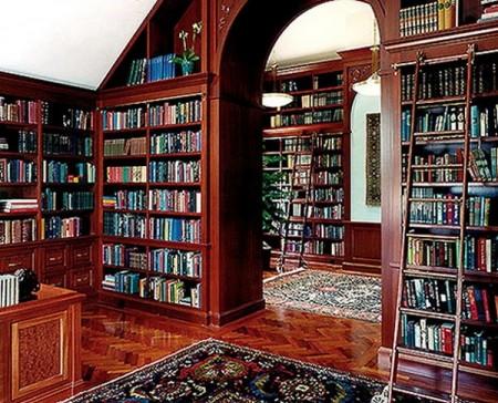 تصميمات مكتبات كتب في المنزل باشكال مختلفة (4)
