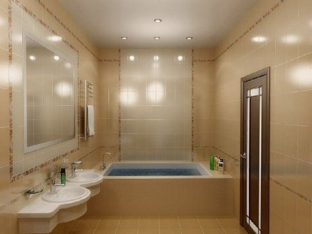 حمامات صغيرة بالصور بديكورات حمام مودرن (1)