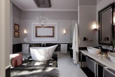 حمامات صغيرة بالصور بديكورات حمام مودرن (4)