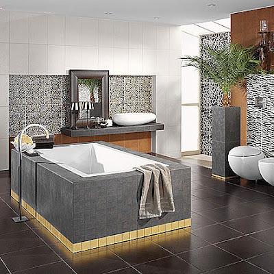 ديكورات حمامات مودرن جديدة صغيرة (1)