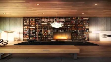 مكتبات منازل مودرن (1)