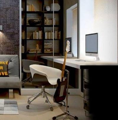 تصميم مكتبات للمنزل  (1)