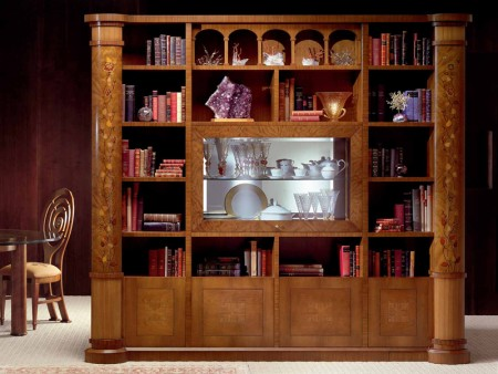 صور اشكال تصاميم مكتبات منزلية (4)