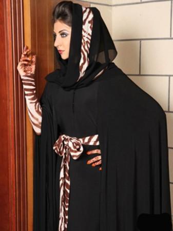 عبايات محجبات سوداء 2016 كاجوال وسواريه (4)