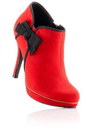 احذية كعب باللون الاحمر للبنات (3)