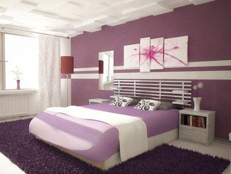 احدث الوان غرف نوم بنفسجيه (2)