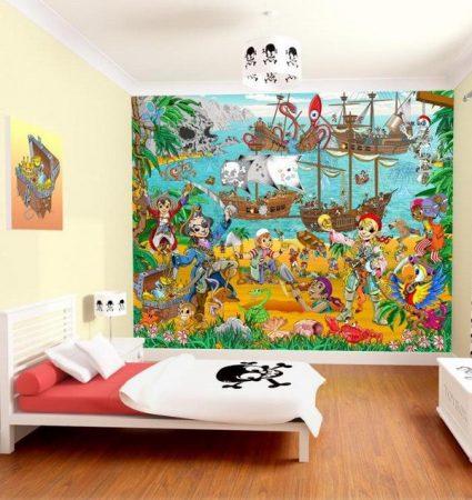 احدث الوان واشكال ورق جدران غرف الاطفال (1)