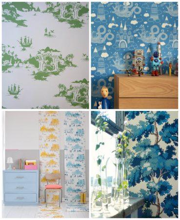 احدث الوان واشكال ورق جدران غرف الاطفال (2)