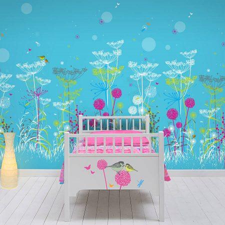 احدث الوان واشكال ورق جدران غرف الاطفال (5)
