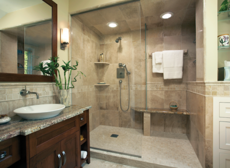 افكار لتزيين الحمام الصغير  (1)