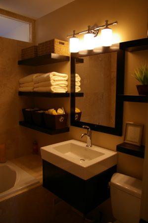 افكار لتزيين الحمام الصغير  (2)