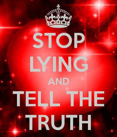 صور عن الكذب (1)