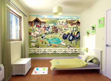 صور ورق حائط لغرف الاطفال 2016 باشكال مودرن (5)