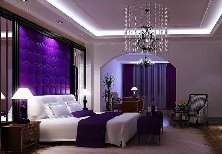 غرف جميلة بنفسجي للنوم (3)