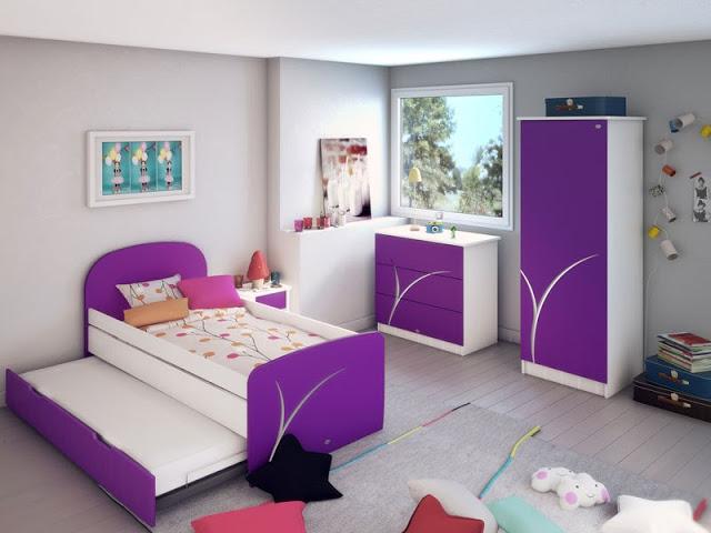 لون غرف نوم بنفسجي (2)