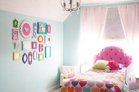 الوان وديكورات حديثة لغرفة البنت (2)
