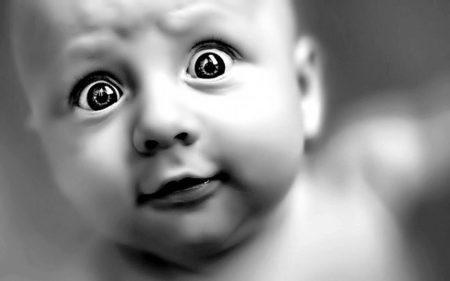 صور اطفال مضحكة ابيض واسود (1)