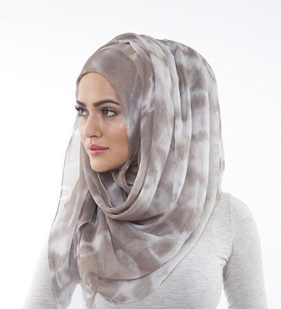 طرق لف الحجاب شيفون (2)
