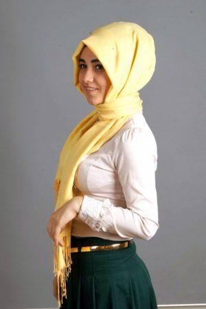 طرق لف الحجاب شيفون (4)