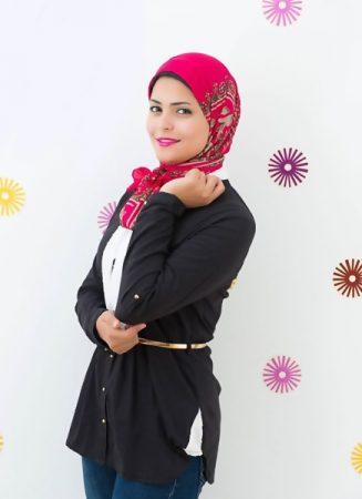 لفات طرح شيفون بأحدث لفات حجاب مودرن وجديدة (4)