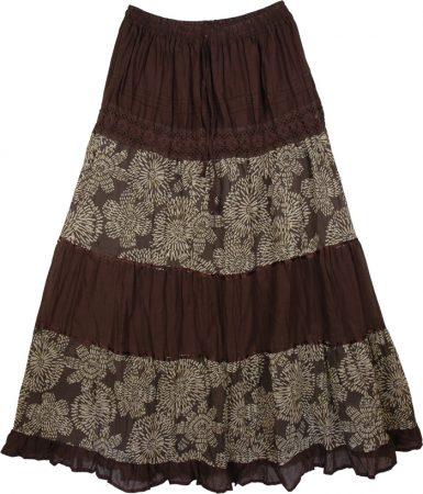 Ethnic Brown Skirt