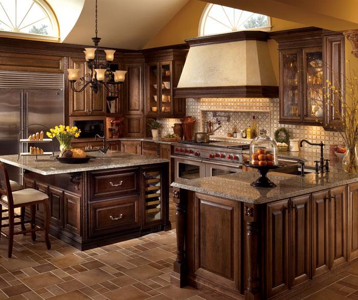 Traditional Kitchen Design Gallery: صور بلاط مطابخ جديدة بالوان واشكال مودرن فخمة