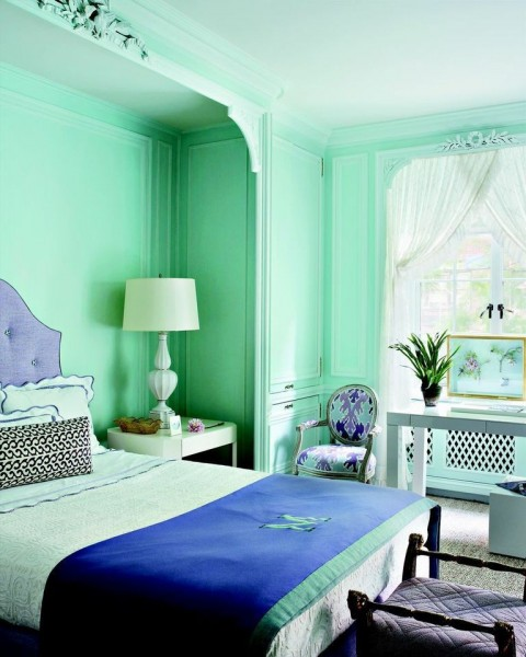 2017 for Sea green bedroom designs