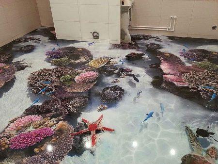 صور ارضيات حمامات ثلاثية الابعاد (1)