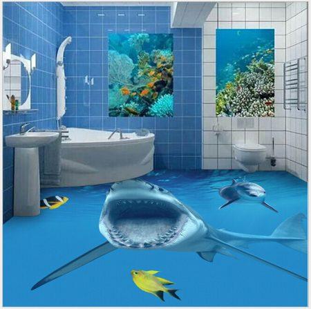 صور ارضيات حمامات ثلاثية الابعاد (3)