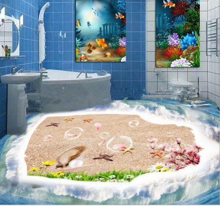 صور ارضيات حمامات ثلاثية الابعاد (4)