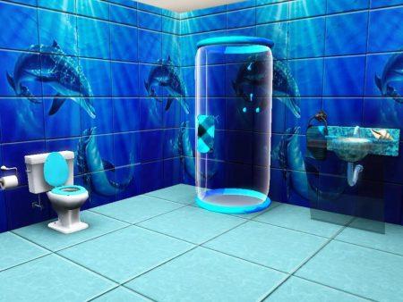 صور حمامات 3d بديكورات مودرن ثلاثية الأبعاد (3)