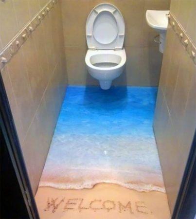صور حمامات 3d بديكورات مودرن ثلاثية الأبعاد (4)