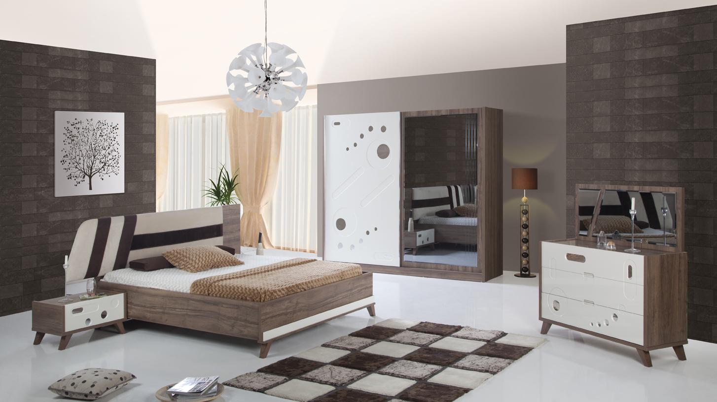 غرف نوم تركية كاملة بديكورات فخمة لغرف العرسان ميكساتك