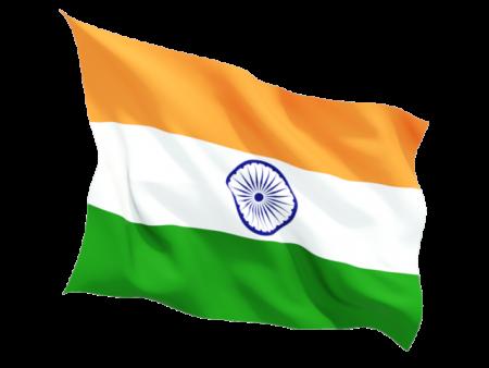 الوان علم الهند اصفر وابيض واخضر