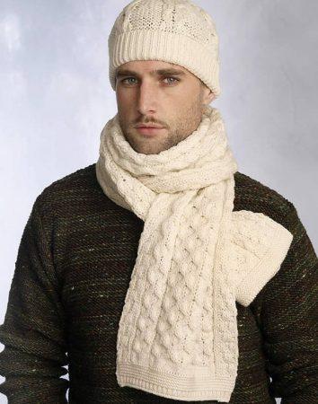 كروشيه كوفية للشتاء (2)