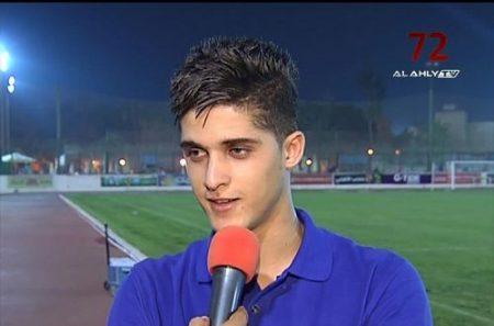 لاعب النادي الاهلي احمد الشيخ (2)