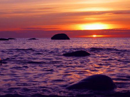 صور الغروب علي البحر (2)