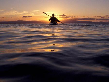 منظر غروب الشمس علي البحر (3)