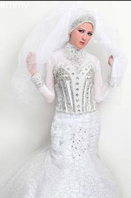 فساتين زفاف محجبات 2014