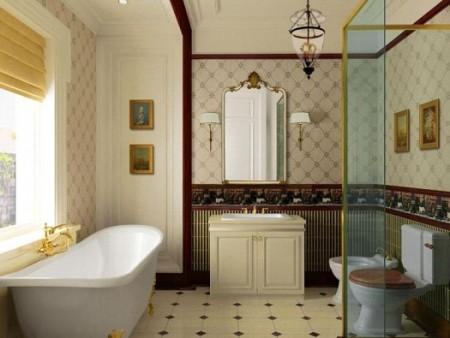 ديكورات حمامات 2014 صغيرة المساحة
